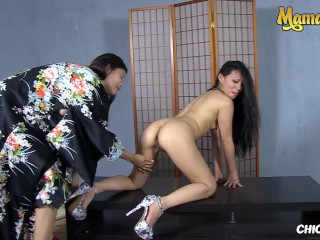 ChicasLoca - Miyuki Son And Lady Mae Japanese Babe Lesbian Fucking With Her BFF - MAMACITAZ