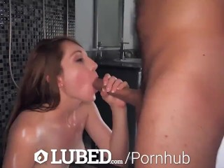 LUBED Wet Slippery Shower Sex With Various Hot Babes