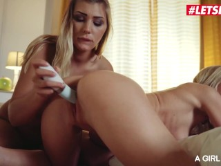 AGirlKnows - Vyvan Hill And Sicilia Serbian Teen Hot Lesbian Sleepover - LETSDOEIT