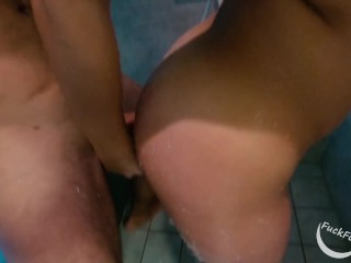 Young couple has amazing shower sex - FuckForeverEver