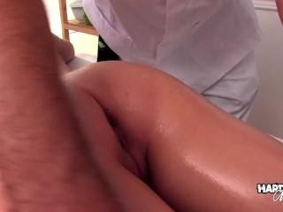 Hardcore Massage - Massage Fuck for Cute Tiny Teen