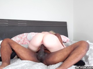 Pretty Big Booty Blonde Gets Fucked By BBC