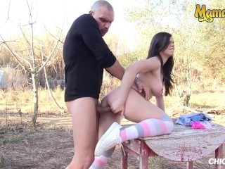 ChicasLoca - Nekane Big Natural Tits Spanish Babe Enjoys Hardcore Public Sex - MAMACITAZ