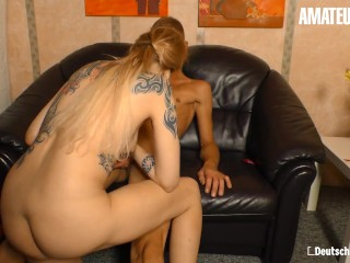 DeutschlandReport - Blonde German MILF Picked Up For A Quick Fuck With Lucky Guy