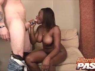 Ebony Step Sister Cock Sucking Step Bro