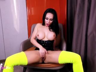 Crystal Rush Play Tits and Passionate Masturbate - Sensual Solo