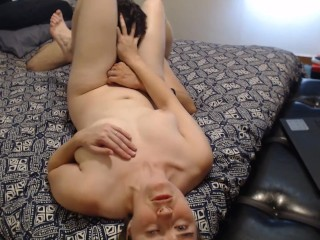 Fiona Fierce sucks cock, fucked against wall, pussy licked, then creampied