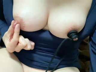 クリトリス吸引しながら 乳首責め 乳首吸(2/2) 巨乳