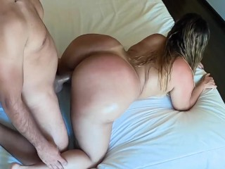 Try Not To Cum With My Big Oiled Ass On Doggystyle And Cowgirl