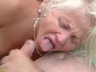 74 years old ass destroyed by big cock